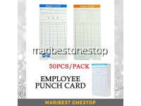 50PCS 6 Columns Employee Punch Card Machine Punch Card Time Recorder Card Clock In Clock Out Card