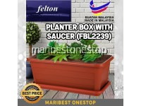 Felton Rectangular Planter Box With Saucer (FBL2239) For Small Plant Example Vegetable, Flower And Herbal Plants *Made In Malaysia*