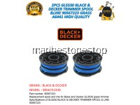 2PCS GL5530 BLACK & DECKER TRIMMER SPOOL &LINE 90567223 GRASS A6441 HIGH QUALITY