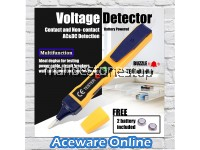 AC/DC Multi-functional Voltage Detector Electric Non-contact Pen Tester Battery Powered Test Pen with Sound Light Alarm