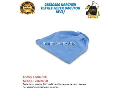 28630150 KARCHER TEXTILE FILTER BAG (FOR MV1)