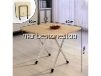 Folding Table Small square household Multipurpose Eat Simple Dormitory Bedroom Dining Board Table Portable 60x60x50cm