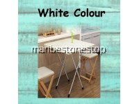 Folding Table Square Tall Table Household Multipurpose Simple Dormitory Bedroom Dining Board Table Portable 60x60x72cm