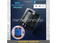887 BLUE MINI BLUETOOTH SPEAKER HANDS-FREE SUBWOOFER WIRELESS SUPPORT USB / LAPTOP / MOBILE PHONE / MICRO SD / TF CARD