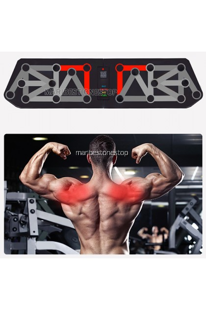 13 IN 1 PUSH UP RACK FOLDABLE BOARD SYSTEM MEN WOMEN EXERCISE WORKOUT COMPACTED DESIGN PUSH UP BOARD