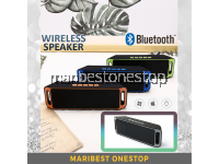 208 GREY MEGABASS STEREO WIRELESS BLUETOOTH SPEAKER FM RADIO SUPPORT USB / TF / MOBILE PHONE / LAPTOP