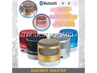 735 GOLD Hot Colorful LED Light Mini Bluetooth Speaker Mobile Phone MP3 Support USB / AUX / TF Card / FM