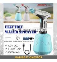 Joustmax JST-SG4.2 Electric Water Sprayer Rechargeable 4.2V Micro USB 1 Litre Can High Pressure Fine Mist Plant Watering Spray