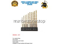10PCS 2-5MM HSS DRILL BIT COME WITH HEX SHANK