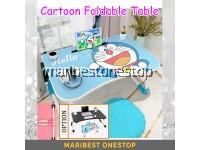 Cartoon DORAEMON Folding Table Laptop ipad Stand Study Table Desk Wooden Foldable Computer Desk Table Kids Children