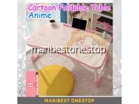 Cartoon ANIME Folding Table Laptop ipad Stand Study Table Desk Wooden Foldable Computer Desk Table Kids Children