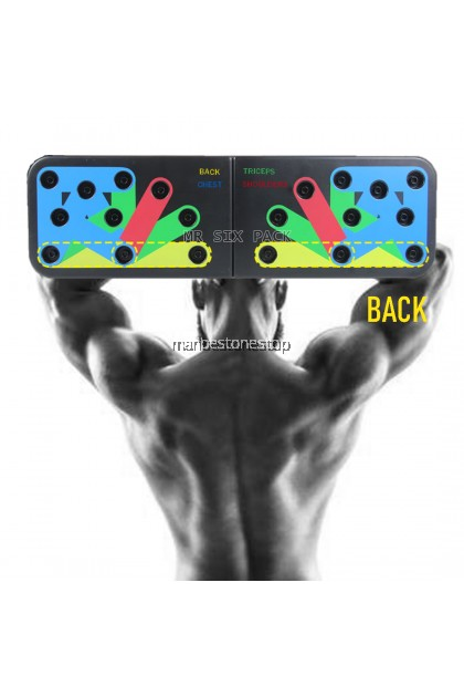 11 IN 1 PUSH UP RACK FOLDABLE BOARD SYSTEM MEN WOMEN EXERCISE WORKOUT COMPACTED DESIGN PUSH UP BOARD