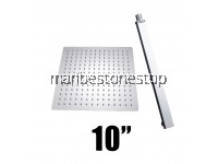 "[SET] AT-201200/250/300 SET SQUARE RAINFALL SHOWER HEAD 8""/10""/12"" WITH ARM STAINLESS STEEL ULTRA THIN  WALL MOUNTED"