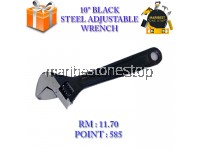 10'' BLACK STEEL ADJUSTABLE WRENCH