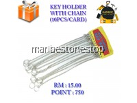 KEY HOLDER WITH CHAIN (10PCS/CARD)