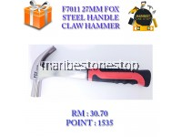 F7011 27 MM FOX STEEL HANDLE CLAW HAMMER