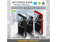 202 POWER BANK 10,000 mAh /20,000 mAh Fast Charging Digital Display Large Capacity Small Full Screen External Battery USB