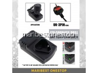 3 PIN UK PLUG BIG CHARGER FOR CORDLESS DRILL 12V BATTERY RECHARGABLE REPLACEMENT DURABLE HIGH QUALITY SAFE TO USE