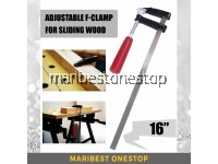 """16"""" / 400MM ADJUSTABLE F-CLAMP FOR SLIDING WOOD WORKING"""