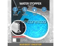 1M Water Stopper Water Retaining Strip Barrier Bathroom Shower Kitchen Dry and Wet Separation Flood Barrier Rubber