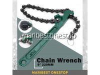 9 Inch 220MM Oil Filter Chain Wrench Car Fuel Remover Tool