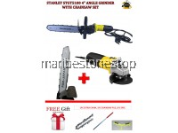 COMBO SET CHAINSAW (2 CHAIN) & STANLEY ANGLE GRINDER-2C