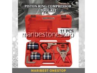 11PCS PISTON RING COMPRESSOR TOOL KIT AUTOMOTIVE ENGINE MOTOR CLEANING RING EXPANDER COMPRESSOR
