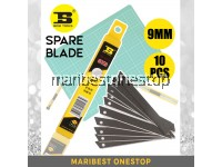 BS310018 BOSI TOOLS 10PCS 9MM SK5 SPARE BLADE REFILL REPLACEMENT BLADE ONLY FOR UTILITY CUTTER