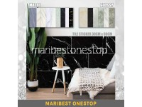 1PC 30CM X 60CM Marble Thicken Self-Adhesive Floor Tile Stickers Matte/Glossy Wearable Wallpaper Waterproof Surface