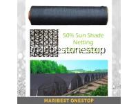 50% 2M X 30M / 2M X 25M Orchid Netting Sunshade Netting Garden Mesh Sunblock Cover / Jaring Naungan