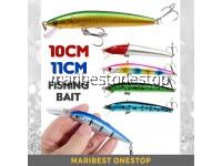 10cm 7.5g / 11cm 11g Fishing Bait Artificial Hard Bait With Hook 3D Eye Reflection Skin Minnow Type