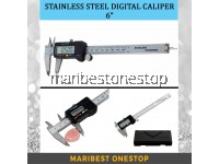 """Stainless Steel Digital Caliper 6"""" / 2PCS LR44 AG13 TMI ALKALINE BATTERY 1.55V"""