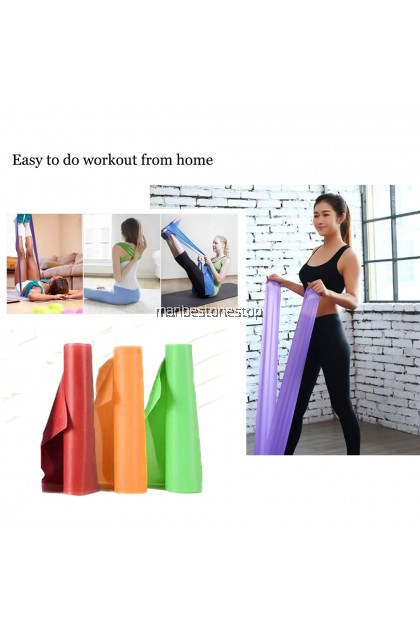 1.5m Fitness Exercise Resistance Band Rubber Yoga Elastic Band Resistance Band Loop Rubber Power band Loops Gym Training