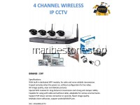 4 CHANNEL WIRELESS IP CCTV