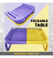 PLASTIC FOLDABLE LAPTOP TABLE WITH CUP HOLDER PURPLE YELLOW SERVING TABLE PORTABLE TABLE KIDS TABLE MEJA MINI