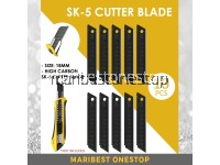 10Pcs SK-5 Cutter Black Blade Utility Knife Blade Thickened V Letter Sharp Durable 18mm Art Knife Blade